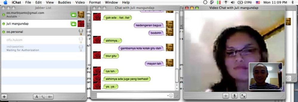 iChat with July